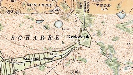 Scharreveld, kaart 1900 - Het Drentse Landschap