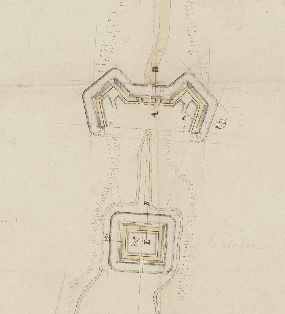 Katshaarschans plan 1797