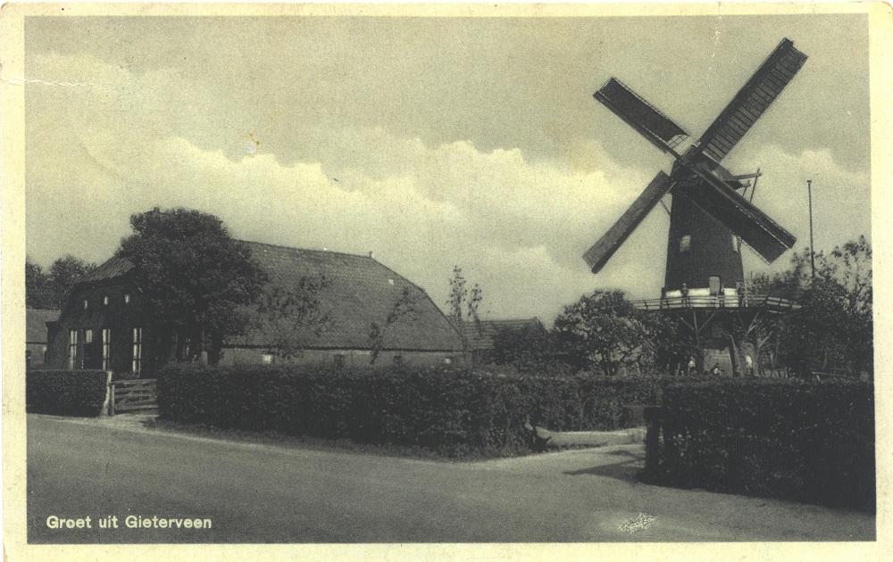 Molen Gieterveen - Foto Collectie B. J. Mensingh Exloo