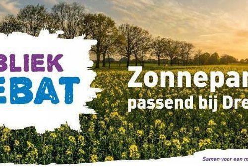 Publiek debat Zonneparken passend bij Drenthe